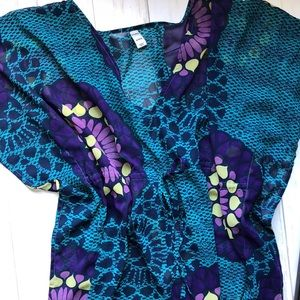 Old Navy Swim Coverup XL NWOT Purple Turquoise